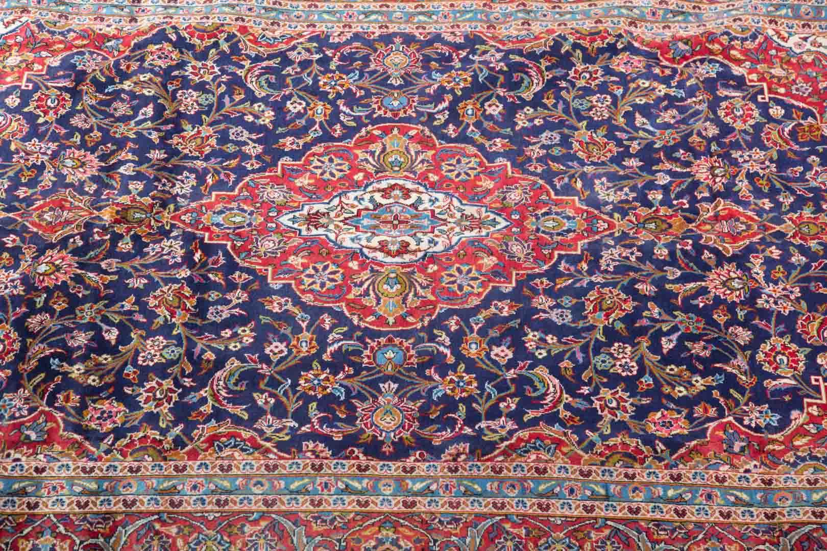 Persian Kashan Rug approx 8x12.6 Image